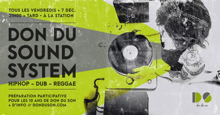 Don du Sound System <br/>Tous les vendredis